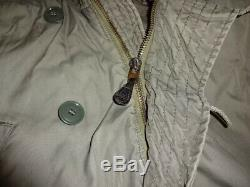 100% Us Army Usaf N-3b Parka Extreme Cold Weather Jacke Coat Large Air Force M65