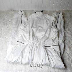 $180 NWT Nike Air Jordan City Flight Suit Jumpsuit White women's sz L