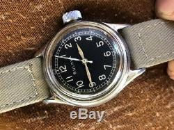1940's Bulova Military A-11 US ARMY AF-43 AIR FORCE AF WW2 HACK MOVEMENT RARE