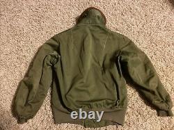 1940s WW2 Vintage Army Air Forces B-15A Flight Bomber Jacket Coat Size 36