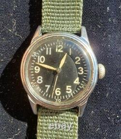 1944 ELGIN Military A-11 US ARMY AF43 Air Force WW2 Hack PROFESSIONALLY SERVICED