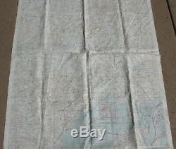 1944 US Army AIR FORCE Pilot SILK Evasion map French Indo China Central China