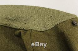 30s Vintage US AIR FORCE A-1 Navy Army Military Khaki Green Flight Bomber Jacket