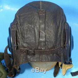 7pc Lot US WWII MILITARY ARMY AIR FORCE PILOT GEAR Leather Helmet