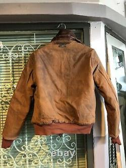 A-2 Aero Leather Clo. Co Horsehide Flying Jacket Art Nose US Army Air Force WWII