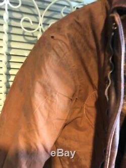 A-2 Aero Leather art nose flying jacket. Original US Army Air Force WWII Scarce