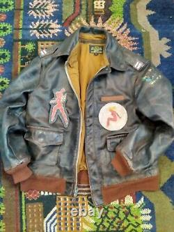 A-2 (W&G) Army, Air Force Flight Leather Jacket Size 44