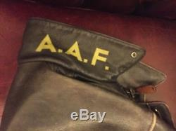 A2 Avirex Leather Jacket U. S Army & Air Force Size UK M