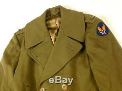 AAF 1942 Military Wool Jacket US Army Air Force Headquarters Wool Patch #A8