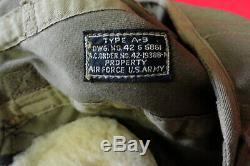 ARMY AIR FORCES SUMMER FLYING HELMET WithEARCUPS & RECEIVERS