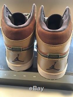 Air Jordan 1 Armed Forces Military Army Mens Size 12 Brown Green Tan