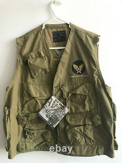 Alpha industries C-1 Emergency sustenance vest Army air force pilot vest sz L