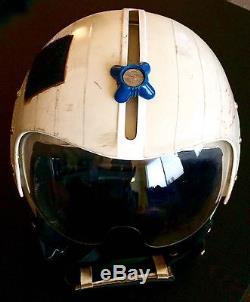 Amazing Vintage Military Pilot Helmet Gentex Large Navy Army Air Force Marines
