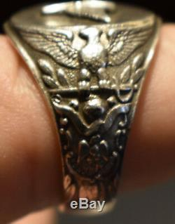 Army Air Corps Air Force WW2 Sterling Pilots Ring. 925 Propeller Size 10 WWII