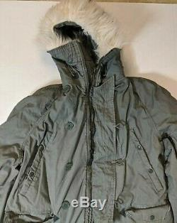 Army Air Force Extreme Cold Weather N-3B Snorkel Parka Jacket XL DJ Man