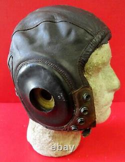Army Air Forces Pilots Type A-11 Leather Flying Helmet-size Large