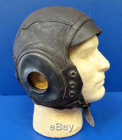 Army Air Forces Type A-11 Intermediate Flying Helmet-rare Ex Large Size