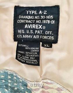 Avirex A2 Flight Jacket with Nose Art Eagle Squadron XL