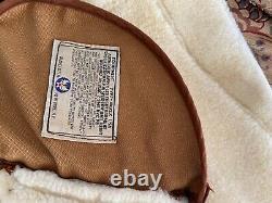 Avirex B-3 Men's Brown Leather Sheepskin U. S. Army Air Forces Jacket Sz 42