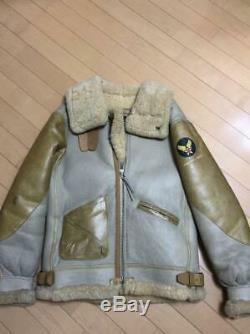 Avirex B-3 vintage flight jacket size 36 leather JACKET US ARMY AIR FORCE