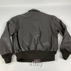 Avirex Type A-2 # 30-1415 Contract No 1978-01 Air Force Leather Bomber USA 42