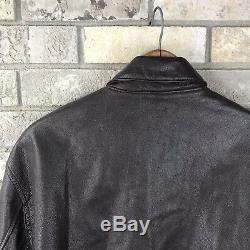 Avirex Type A-2 Bomber Brown Leather Jacket Medium U. S Army Air Forces USA Flyer