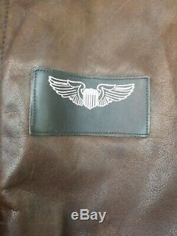 Avirex Type A-2 Bomber Leather Jacket Size 42 U. S Army Air Force Made In USA