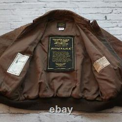 Avirex Type A-2 US Army Air Forces Leather Flight Jacket Made in USA Vtg 1986