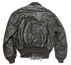 Avirex US Army Air Force Leather Flight Jacket Bomber Type A-2 42 Large & Gloves