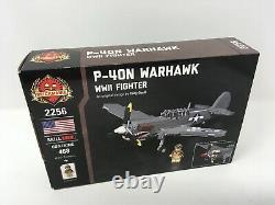 Brickmania P-40N Warhawk World War 2 WWII aircraft Lego BKM2256 Army Air Force