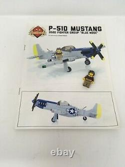 Brickmania P-51D Mustang World War 2 WWII aircraft Lego BKM2042 Army Air Force