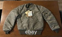 Buzz Rickson's Sage Green MA-1 (Size M) Made In Japan Slender (BR13573)