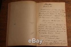 C1900 WW1 Airforce Army pilot plane manuscript book READ DESCRIPTION CURIOSA US