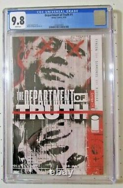 CGC 9.8 The Department Of Truth #1 Cover A Image Comics 2020 Tynion & Simmonds