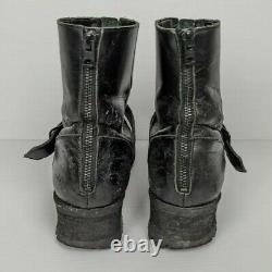 CIVARIZE Black Leather Size 42 Kombat Fashion Boots Made In Japan Size 42
