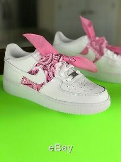 Custom Nike Air Force 1 Size 7y 6.5y 6y 5.5y 5y (8.5 8 7.5 7 6.5 Women) Bandana