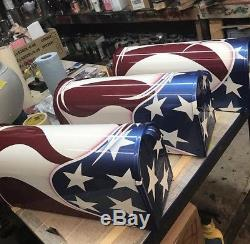 Custom Painted American Flag Mailbox Marines Air Force Navy Army Veteran