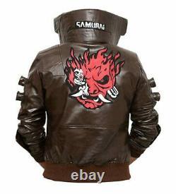 Cyberpunk Jacket Samurai Gaming Bomber Leather Jacket