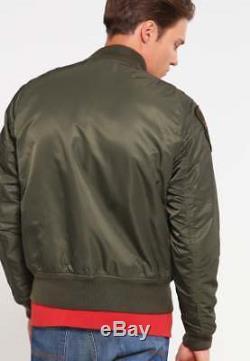 Denim Supply Ralph Lauren Men Military Army Flight Bomber Skull Jacket Air Force