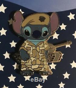 Disney Stitch Patriotic Military Navy Marine Army Air Force 5 Pin Set 54546 RARE