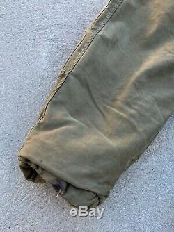 Distressed Vintage US Army Air Forces Jacket Winter Flying Type B-11 Size 40