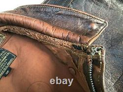 Eastman Leather Rough Wear 27752 Seal Brown Horsehide A2 Jacket Size 40