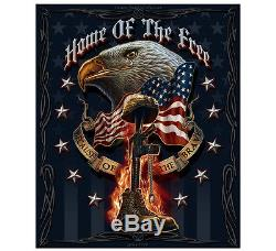 Fleece Throw Blanket 50 x 60 Military Soldier Air Force Army Marines Navy