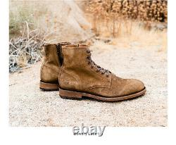 Frye Men's Bowery Lace-Up Boots 11.5 Combat Goodyear Welt Construction
