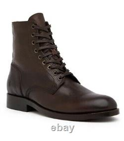 Frye Men's Lace-Up Leather Boots Combat Goodyear Welt Construction Size 13