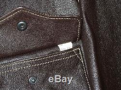 Good Wear Dubow Army Air Forces Goat Skin Leather A-2 Jacket Size 46 Order 27798