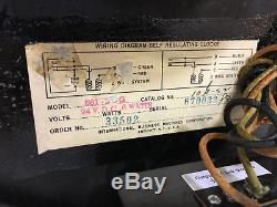IBM US Army Air Force 24hr Vintage Minute Impulse Secondary Slave Clock WORKS