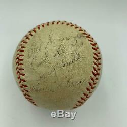 Joe DiMaggio 1944 WWII 7th Army/Air Force Team Signed Baseball World War 2 JSA