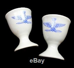 LOT OF 2 x GENUINE ITALIAN ARMY / AIR FORCE PORCELAIN EGG CUPS