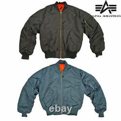 MA1 Flight Padded Bomber Jacket Military Army Pilot Air Force Alpha Industries